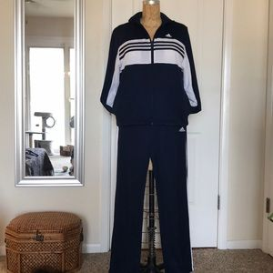 Classic Adidas relaxed fit tracksuit 2 pc set